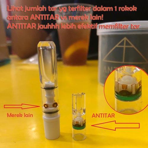 antitar vs filter merek lain